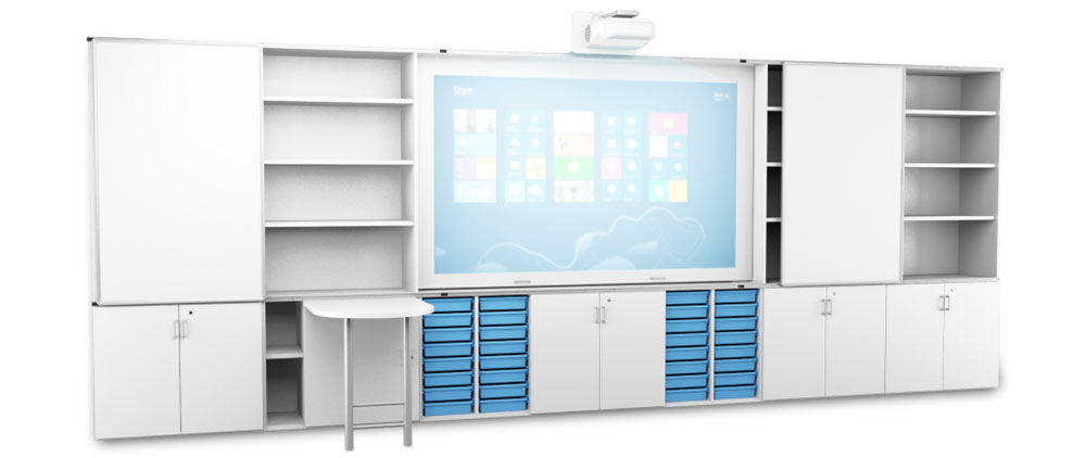 ICT Furniture - Teacher Wall Customised Classroom Storage