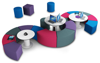 ICT Furniture - Open Plan Segmental Soft Seating